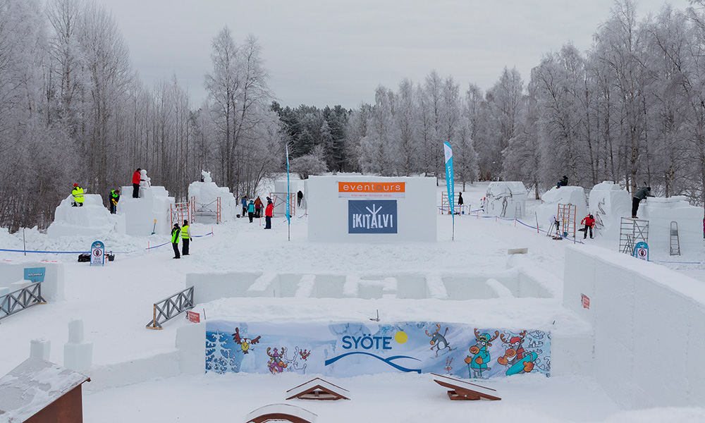 Contest area right next to Nallikari Winter Village. Photo BSC media team / Elisey Kuziakin.