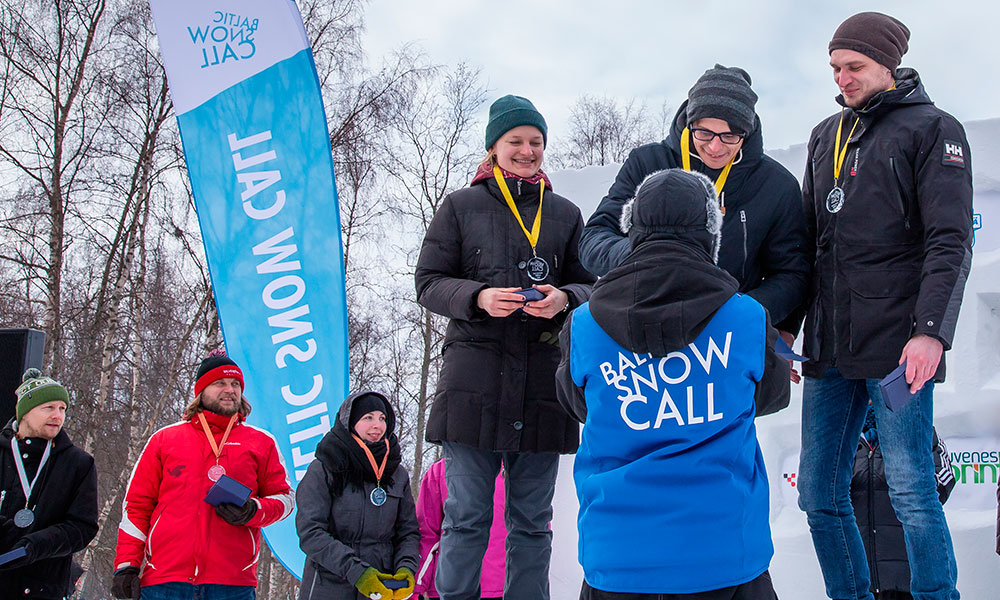 Awards Ceremony of the first Baltic Snow Call! Photo BSC Media team / Sami Hänninen.